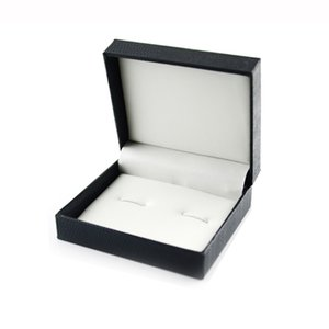 Wholesale DIY Hot Luxury Fashion Black Jewelry Cufflinks Box Gift Boxes Organizer Case Cuff Link Display Carrying Amazing Jewelry Cases615