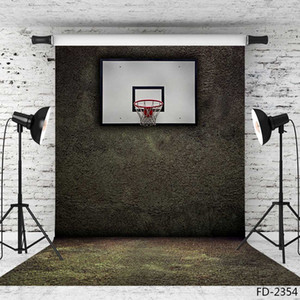 Wholesale basketball stands vinyl cloth photography backgrounds portrait photographic backdrop X7ft vinyl cloth backdrops for photo studio Camera