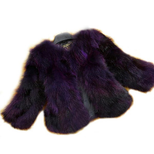 Wholesale Natural Real Fox Fur Coat Genuine multi colors Fox Fur waistcoat Fashion Factory Retail Customize Jacket TFP523