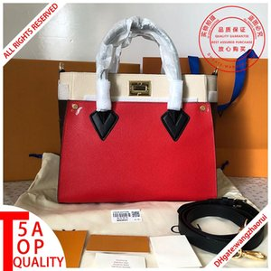 5A lady handbag On My Side Shoulder handbag real leather Messenger bags Commuter bags women CrossBody bag tote bags female wallet with box