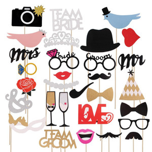 Fun Wedding Decoration Photo Booth Props DIY Mr Mrs Photobooth Props Photo Accessories Wedding Event Party Supplies