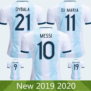 Argentina 2019 2020 Soccer Jersey of MESSI Copa America Adult Kids Kit DYBALA HIGUAIN ICARDI Camisetas de futbol football Soccer Shirt Kit on Sale