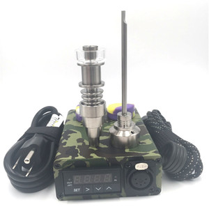 Wholesale dab rig heater for sale - Group buy electric dab rig Mini Portable ENAIL Wax Vaporizer kit With Ti Titanium Domeless Coil Heater E Quartz Nail silicone pad