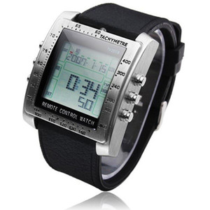 Men's Wtach Intelligence Sports Clock Remote Control Alarm TV DVD Remote Steel Rubber Sports Wrist Watches reloj mujer