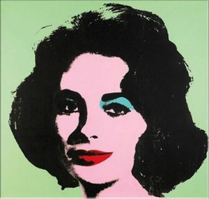 ANDY WARHOL Oil Painting On Canvas Modern Pop Art Wall Decor Liz Harley Wall Art Home Decor Large Picture 190922 on Sale