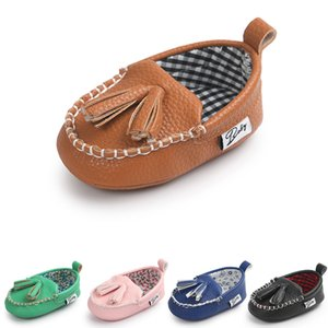 Wholesale Moccasin First Walkers Newborn Baby Shoes Toddler Prewalker Shoes Baby Boy Girl Pu Tassel pendant Leather