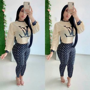 Wholesale New Style Women s Piece Outfit Long Sleeve Crop Loose Top and Skinny Bodycon Long Pants Set