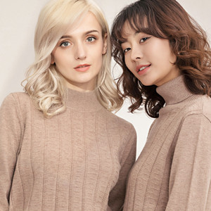 Wholesale Manufacturer's Wool Sweater 100 Pure Wool 2019 New Woman's Knitted Sweater Knitted Bottom Sweater Cashmere