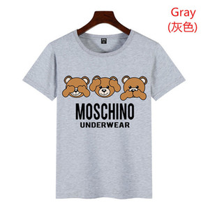 Wholesale 19ss Summer New Moschin O Tee Cotton Short Sleeve Breathable Men Women Moschinos Swing Bear Casual Outdoor Streetwear T shirts