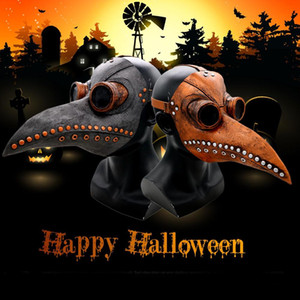 Wholesale Latex Mask Halloween Cosplay Props Crafts Medieval Steampunk Accessories Pest Bird Doctor Punk Mask Adult Party Decoration