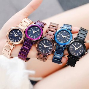 Hot Luxury fashion brand ladies watch star surface simple color high-quality quartz watch on Sale