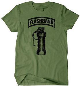 Wholesale Military T Shirt Flashbang Grenade Special Forces Army Rangers USMC