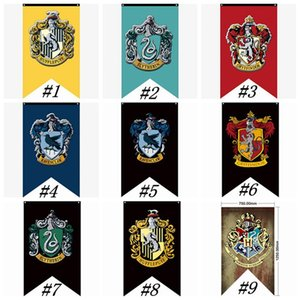 Wholesale Hogwarts College Party Flags Harry Potter Gryffindor Banner Sign Flag CM House Wall Decoration Banner Polyester Flags ZZA1347