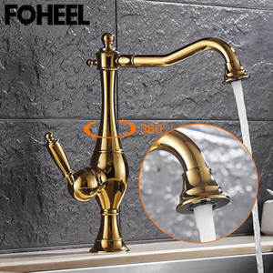 Wholesale black kitchen sink mixers resale online - FOHEEL Kitchen Sink Mixer Tap black Chrome kitchen faucet single handle Hot and Cold Water Classic faucet