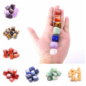 Wholesale money draw for sale - Group buy Natural Crystal Chakra Stone Set Natural Stones Palm Reiki Healing Crystals Gemstones Home Decoration Accessories RRA2812