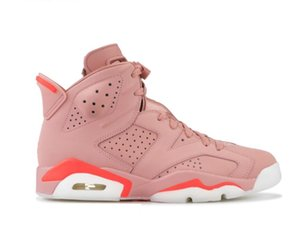 Wholesale 2019 6s Aleali May Women Basketball Shoes rust pink bright crimson rose rouille Youth sneakers Sports Trainers