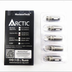Wholesale arctic coil heads resale online - 100 original Horizon BTDC coils ohm clapton coil ohm ohm coil head for horizontech arctic Top v2 pyrex replacement atomizer