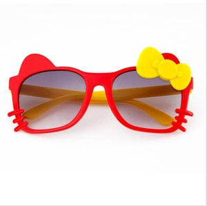 Wholesale Kids Girl Sunglasses Bow Cat Kid Sun Glasses UV Protection Girls Eyeglasses Children Beach Eyewear Kids Fashion Accessories Colors