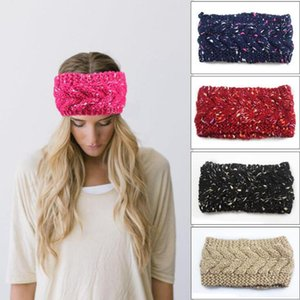 Wholesale Women Knitted Headband Colors Stretch Winter Warm Twist Crochet Hair Band Beanie Turban Girls Hair Accessories OOA7386