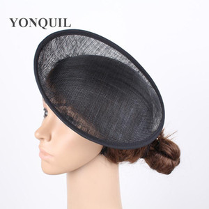 Wholesale 2017 Black quot CM Sinamay Fascinators Bases Millinery Fascinator Hat Base Craft Making Material derby party headwear