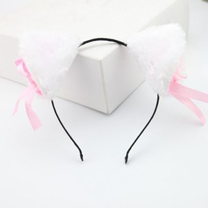 Cat Ears Hair Accessories For Female Ladies Head Band Long Fur Headwear Party Christmas Costume Girls Women Headband 2018