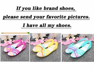 Wholesale 2018 Summer Sandal for Women Outdoor Water shoes Candy Color Women Wading Shoes Rainbow Jelly Beach Shoes Woman Flats