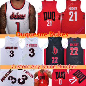 ingrosso acciai michael-Custom NCAA Duquesne Dukes Pallacanestro Jerseys College Sincero Carry Baylee Steele Michael Hughes Marcus Weathers Maceo Austin Nixon