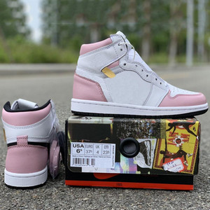 Wholesale Pink Double Patch Women Basketball Shoes s Top Leather Unique Designer White Fashion Leading Athletic Casual Sports Sneakers