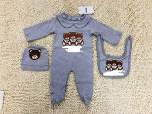 Wholesale Boy Girls Outfits New Fashion Cotton Baby Boys Girls Romper Long Sleeve Jump set Playsuit Little Baby Rompers Clothes