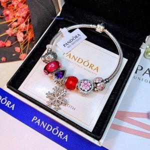luxuries designer jewelry women Charm Bracelets 925 Silver Snake Chain Fit Pandora Bead Bangle Fashion snap Jewelry wholesale Gift For Women on Sale