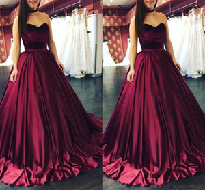 Fashion Design Long Prom Dresses A Line Sweetheart Sleeveless Top Velvet Stain Dress Evening Wear Arabic Women Formal Special Occasion Gowns on Sale