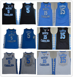 NCAA North Carolina Tar Heels 5 Nassir Little Vince 15 Carter Berry Barnes UNC blue Black White Jerseys
