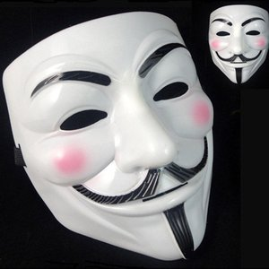 Wholesale 5000pcs V Mask Masquerade Masks For Vendetta Anonymous Valentine Ball Party Decoration Full Face Halloween Super Scary Party Mask