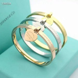 Wholesale Hot Sale Forever Love Heart Bracelet New Brand l Stainless Steel Rose Gold Silver Wristband Charm Bangle Woman Party Gift fashion jewelry