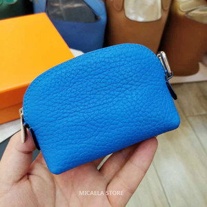 Wholesale MICAELA designer coin purse coin pouch soft cowskin genuine leather Mini luxury designer pouch handbags purses wallet case porte monnaie