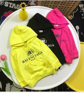 new Baby Cotton Casual Hoodies 2019 Spring autumn Baby Girls boys Letters Sweatshirt Big Pockt Front Kids Outerwear Clothes on Sale