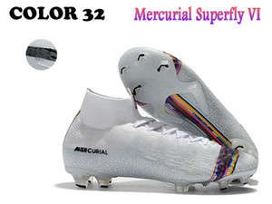 New style Mercurial Superfly VI 360 Elite FG SG 6 XII 12 CR7 Ronaldo Neymar Mens Women High Soccer Shoes Football Boots Cleats Free Shipping