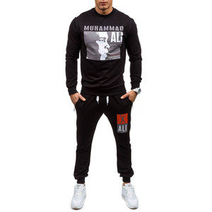 Wholesale Mens white designer hoodie sweatshirt sweat coat pullover jackets suits boxing champion printing sweater Wei pants sports suit