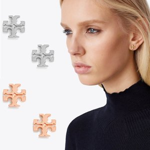 3 Colors Retro Cross Pattern Copper Dangle Designer Earrings Jewelry Stud Earrings des boucles d'oreilles Mothers Day Gifts on Sale