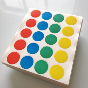 Wholesale 100 sheets diameter mm red blue green yellow round paper sticker color dots Item No OF08