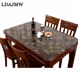Wholesale Ldajmw Pvc Waterproof Tablecloth Tablecloth Floor Mat With Pattern Kitchen Table Cover Tarpaulin Soft Glass Tablecloth Mm T8190620