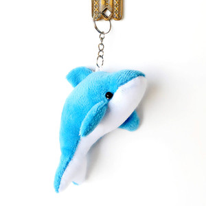 Wholesale Cute Small Dolphin Plush Toy Pendant Mobile Phone Pendant Bag Pendant Car Accesssories Stuffed Animal Toys