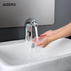 Wholesale 100 Solid Brass Chrome Polished Touchless Automatic Sensor Faucet Electric Infrared Bathroom Sink Faucet pia do banheiro ZR1019