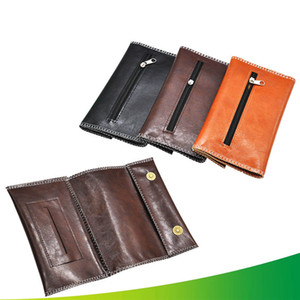 Wholesale PU Leather Tobacco Bag Portable Cigarette Rolling Pipe Tobacco Pouch Case Wallet Tip Paper Holder Smoking Accessories