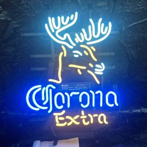 Wholesale Custom Led Corona Extra Neon Sign Light Outdoor Beer Entertainment Party Display Real Glass Neon Lamp Light Metal Frame