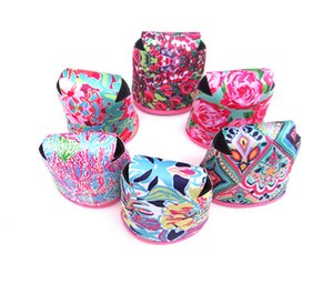 Wholesale Multicolor Print Neoprene Collapsible Can Sleeve Beer Cups Cover Cola Can Cooler Sleeves Lily Holder Drink Cooling Protection B71902