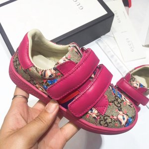 Wholesale Trendy Kids Shoes Quality Genuine Leather Childrens Shoes Designer Toddler Sneakers Unisex Shoes for Matching Sister and Brother Footwear