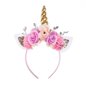 Bows Baby Headbands Kids Hair Accessories Europe And America Style Unicorn Bows Fashion DIY Halloween Party Head Bands on Sale