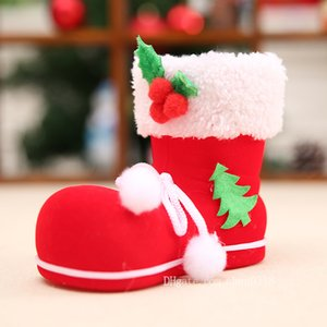 Wholesale Christmas Decorations Ornaments Small Children Toy Candy Boots Old Shoe Box Gift Bags Supplies Home Decor Christmas Shoes