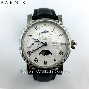 Wholesale men watch mm embossment GMT hand winding roman numberwhite Dial mens watch whole sale price